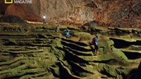 A sculpted cavescape in the Son Doong Cave (Photo: Carsten Peter/National Geographic)