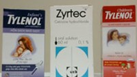 Tylenol and Zyrtec products sold in Vietnam.
