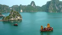 Ha Long Bay of Vietnam has been listed among the world's ten most outstanding tourist destinations by Lonely Planet Magazine.