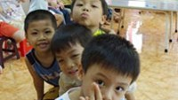 Students of Xuan La Kindergarten in Tu Liem District, Hanoi