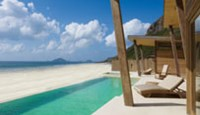 A sea-front lounge of the five-star Six Senses Con Dao.