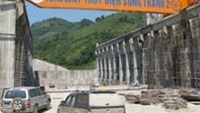 The Tranh River 2 Hydroelectric Plant under construction in the central province of Quang Nam.