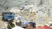 The scene of an explosion that killed two women in Ha Tinh