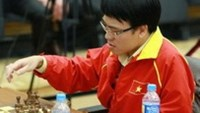 GM Le Quang Liem finished fourth at the 2013 World Rapid Chess Championship in Russia on Saturday. Photo by chessdom.com