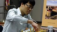 GM Le Quang Liem won the national rapid chess championship in Ho Chi Minh City on Tuesday. Photo by Quynh Anh
