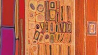 One of the works of Australian aboriginal artists will be on display on April 17 in Hanoi