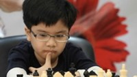 Nguyen Anh Khoi, 11, who was runner-up in the National Chess Championship which finished in HCMC Monday. Photo by Bach Duong