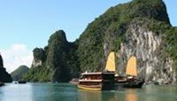Ha Long Bay is located in the northern province of Quang Ninh, about 180 kilometers east of the capital Hanoi.