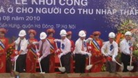 The groundbreaking ceremony for the largest low income housing project in the country to date was held in Hanoi on Saturday