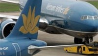 A Vietnam Airlines aircraft prepares to head to the runway at Hanoi's Noibai airport.
