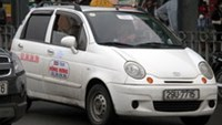A suspended taxi cab from Hong Hung firm in Hanoi.