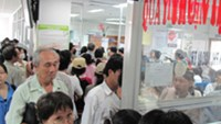 Patients wait to pay their dues at the Gia Dinh People Hospital in Ho Chi Minh City.