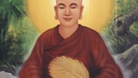 The picture of King Tran Nhan Tong (1258-1308) that will be used to make a jade statue, celebrating the founder of Vietnamese Zen Buddhism.