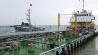 The Chinese ship caught illegally transferring oil to Vietnamese vessels Saturday