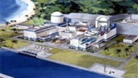 A rendering of nuclear plant proposed for Vietnam