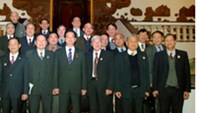 War veterans at a meeting with Prime Minister Nguyen Tan Dung on Tuesday.