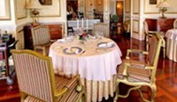 A corner of French restaurant Le Rabelais at Da Lat Palace.