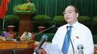 Deputy Prime Minister Nguyen Xuan Phuc in a National Assembly session