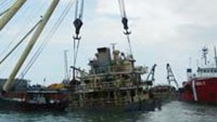 A Vietnamese vessel recovered more than one month after its collision with a Thai ship off the southern resort town of Vung Tau. The foreign ship's navigator is facing suspension for letting the a