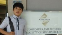 Vietnamese musician Nguyen Van Chung at the office of the Composers and Authors Society of Singapore (COMPASS).