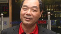 A file photo Tram Be, deputy chairman of Sacombank, one of the country's major banks.