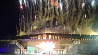 The closing ceremony of Hue Festival 2012 was held in front of the Hue Imperial Citadel on April 15.