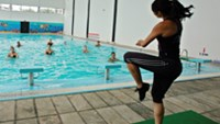 Hot dance in the pool