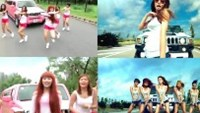 """MV Ngay vang anh (day without you) (L) of Vietnamese singer Bao Thy and South Korean singer HyunA's """"Bubble Pop"""" (R)."""