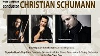 Poster for the classical music concert featuring leading Vietnamese artists and German conductor Christian Schumann