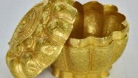 A 600-year-old golden box was found last month in the northern province of Quang Ninh