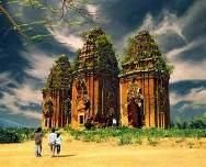 A part of My Son Relics Complex in the central province of Quang Nam.