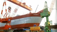FSO5, Vietnam's largest oil store above water, was transferred by the builder to the investor on Monday in Hai Phong.