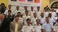 Participants pose at a two-week multilateral training course to improve law enforcement capabilities and coordination at sea co-hosted by the Vietnam Marine Police and the US Department of State May 1
