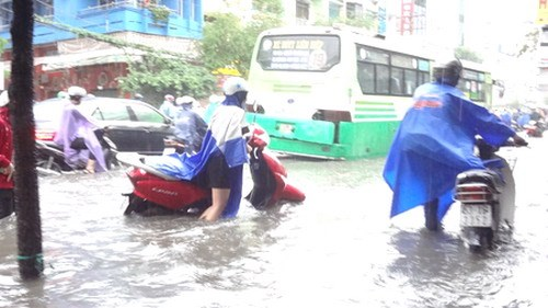Saigon flooded