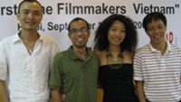 The four winners (L to R) Hoang Manh Cuong, Phan Duy Linh, Phan Y Ly and Nguyen Manh Ha