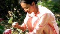 Hanh, brilliantly played by Hong Anh, bathes her stepchild in Trang noi day gieng (Moon at the bottom of the well)