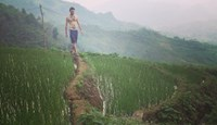 The author approaching Ba Be Lake in the northern mountainous province of Bac Kan. Photo: Olof