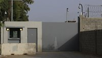 The entrance of the compounds of the U.S. embassy is pictured in Tripoli July 26, 2014. Photo credit: Reuters
