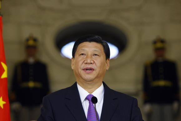 Chinese Vice President Xi Jinping delivers a speech during a joint media briefing with Romania's President Traian Basescu (unseen) at Cotroceni presidential palace in Bucharest in this October 19, 2009 file photo. Photo credit: Reuters