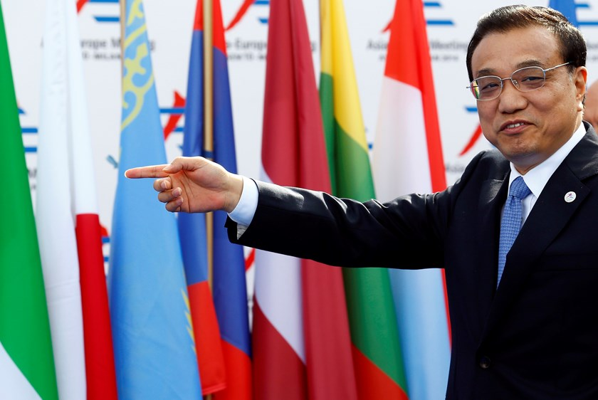China's Premier Li Keqiang arrives for the Asia-Europe Meeting (ASEM) in Milan October 16, 2014. Photo credit: Reuters