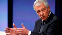 US Secretary of Defense Chuck Hagel participates in the Washington Ideas Forum, in Washington October 29, 2014. Photo credit: Reuters
