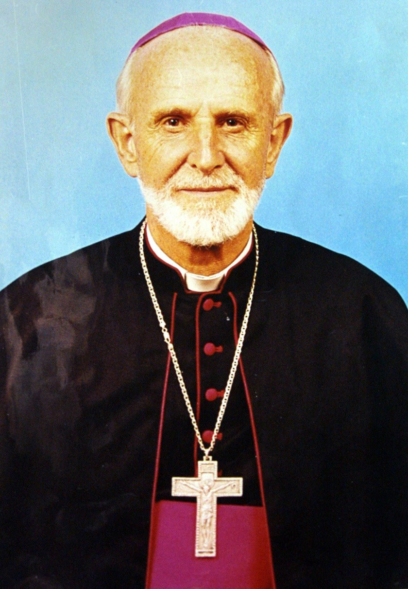 An undated handout photo made available by the Kenyan Catholic Secretariat in Nairobi, on July 15 2005, shows Bishop Luigi Locati from Italy, who was shot dead in Isiolo, Kenya. Photo credit: AFP