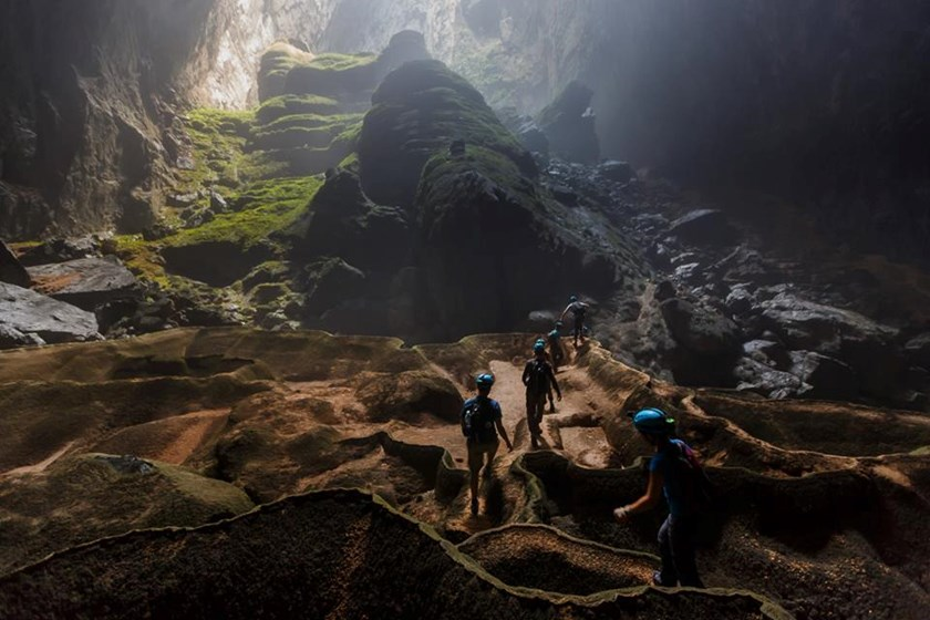 An adventure tour through the world's largest cave Son Doong in Quang Binh Province. Photo courtesy of Oxalis