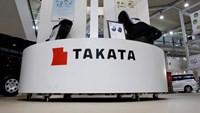 Displays of Takata Corp are pictured at a showroom for vehicles in Tokyo in this file photo taken November 5, 2014. Photo credit: Reuters