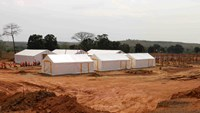 A newly-built Ebola treatment center is pictured in Beyla, Guinea, November 25, 2014. Photo credit: Reuters