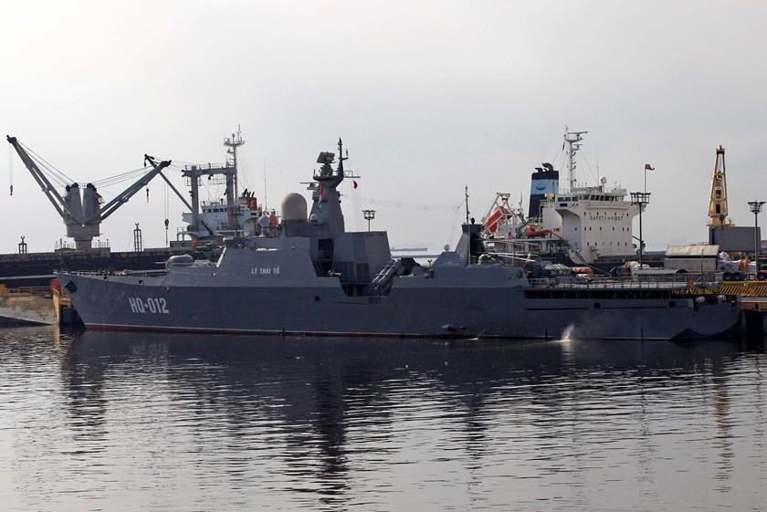 One of the two Vietnam Russian-built missile-guided frigates is seen docked at a bay in Manila November. Vietnam last month showed off its two most powerful warships in the first-ever port call to the Philippines. Photo credit: Reuters