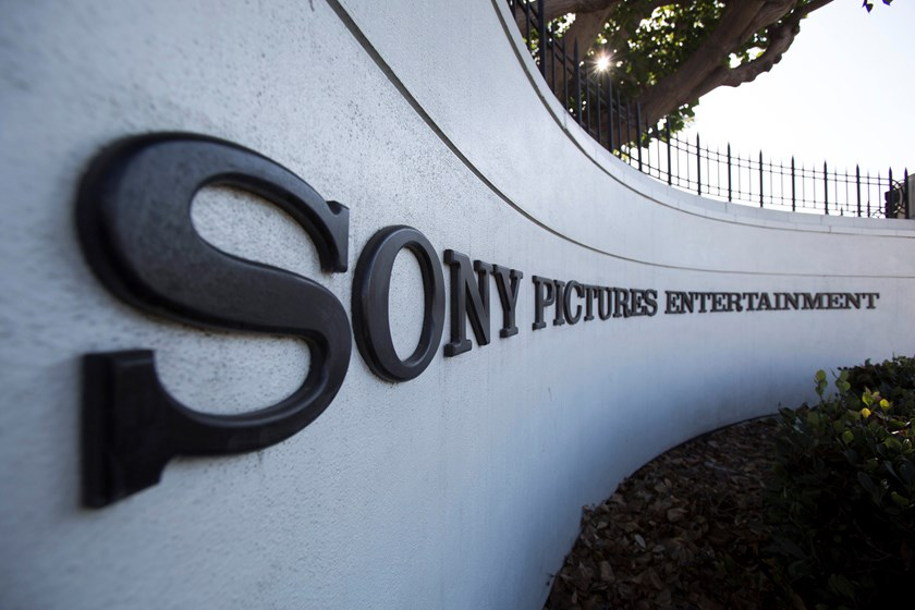 A logo is pictured outside Sony Pictures Studios in Culver City, California December 19, 2014. Photo credit: Reuters