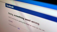 A Facebook error message is seen in this illustration photo of a computer screen in Singapore in this June 19, 2014 file photo. Photo credit: Reuters