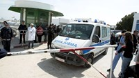 An ambulance arrives at the morgue carrying the body of a victim of Wednesday's attack on the national museum in Tunisia, in Tunis March 19, 2015. Photo credit: Reuters