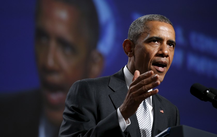 U.S. President Barack Obama speaks about gun violence during an address to the United States Conference of Mayors in San Francisco June 19, 2015.  Photo: Reuters